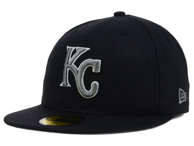 Kansas City Royals New Era MLB Black Graphite 59FIFTY Cap