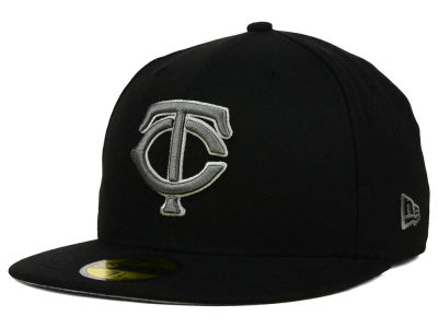 Minnesota Twins New Era MLB Black Graphite 59FIFTY Cap