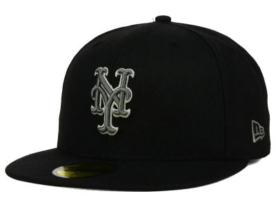 New York Mets New Era MLB Black Graphite 59FIFTY Cap