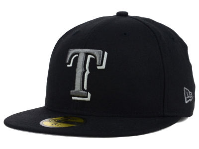 Texas Rangers New Era MLB Black Graphite 59FIFTY Cap