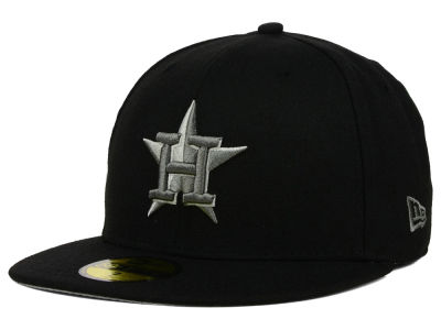 Houston Astros New Era MLB Black Graphite 59FIFTY Cap