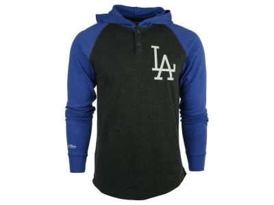Los Angeles Dodgers MLB Men's Home Stretch Hooded Long Sleeve T-Shirt
