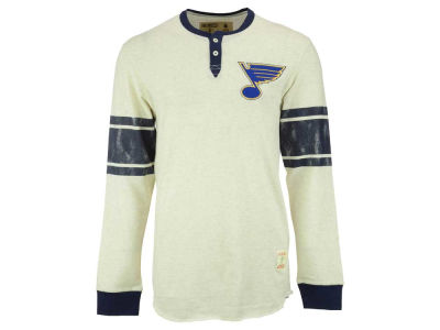 St. Louis Blues Reebok NHL Men's Henley Shirt