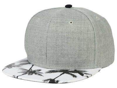 PL Washed Palm Printed Visor Snapback Hat
