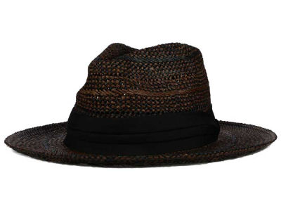 LIDS Private Label PL Wide Brim Open Weave Straw Fedora