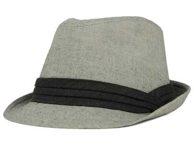 LIDS Private Label PL Flecked Grey Fedora with Tonal Band