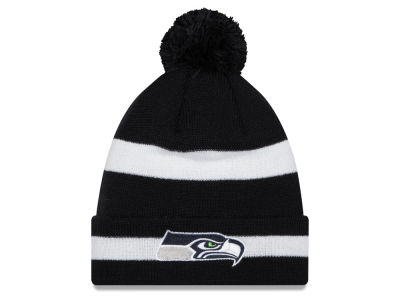 Seattle Seahawks New Era NFL 2 Tone Pom Chase Knit