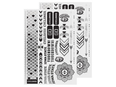Iowa State Cyclones Metallic Tattoo Pack