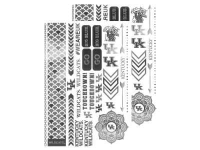 Kentucky Wildcats Metallic Tattoo Pack