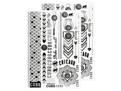 Chicago Cubs Metallic Tattoo Pack