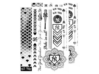 New York Yankees Metallic Tattoo Pack