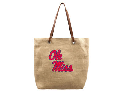 Ole Miss Rebels Burlap Tote