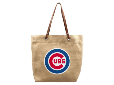 Chicago Cubs Burlap Tote