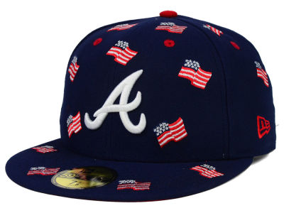 Atlanta Braves New Era MLB All Flags 59FIFTY Cap