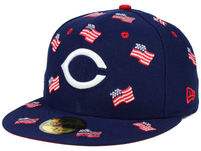 Cincinnati Reds New Era MLB All Flags 59FIFTY Cap
