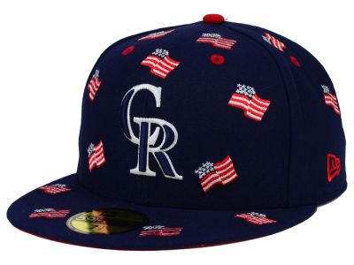 Colorado Rockies New Era MLB All Flags 59FIFTY Cap