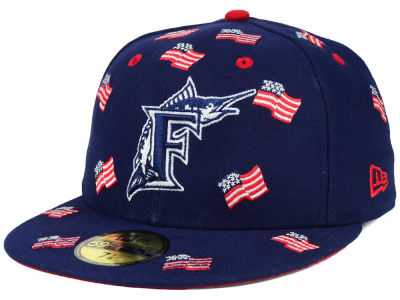 Florida Marlins New Era MLB All Flags 59FIFTY Cap