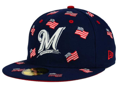 Milwaukee Brewers New Era MLB All Flags 59FIFTY Cap