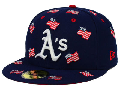 Oakland Athletics New Era MLB All Flags 59FIFTY Cap