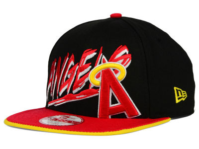 Los Angeles Angels New Era MLB Neon Word Scribbs 9FIFTY Snapback Cap