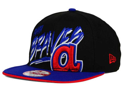 Atlanta Braves New Era MLB Neon Word Scribbs 9FIFTY Snapback Cap
