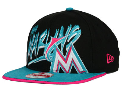 Miami Marlins New Era MLB Neon Word Scribbs 9FIFTY Snapback Cap