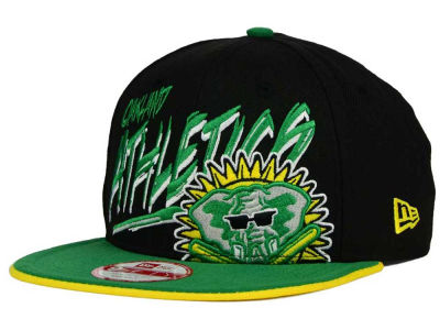 Oakland Athletics New Era MLB Neon Word Scribbs 9FIFTY Snapback Cap