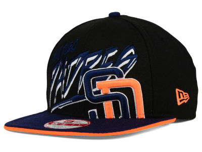 San Diego Padres New Era MLB Neon Word Scribbs 9FIFTY Snapback Cap