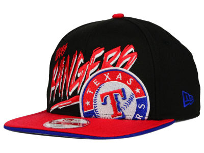 Texas Rangers New Era MLB Neon Word Scribbs 9FIFTY Snapback Cap