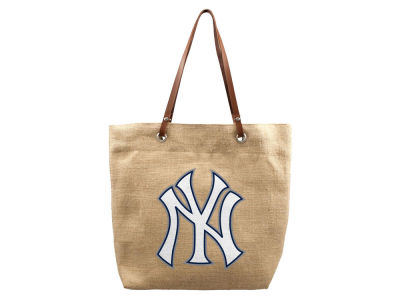 New York Yankees Burlap Tote