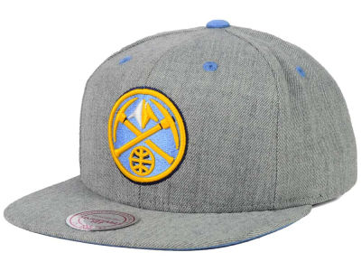Denver Nuggets Mitchell and Ness NBA The Heather Snapback Cap