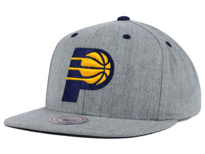 Indiana Pacers Mitchell and Ness NBA The Heather Snapback Cap
