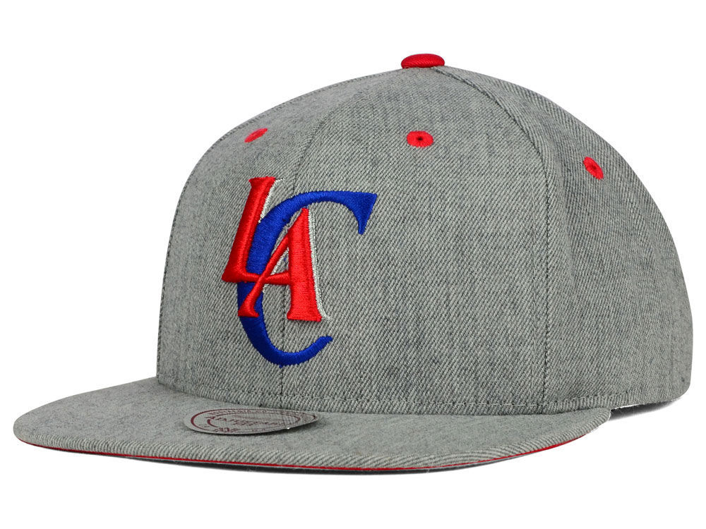 competitive price b85e5 d8786 Los Angeles Clippers Mitchell   Ness NBA The Heather Snapback Cap   lids.com