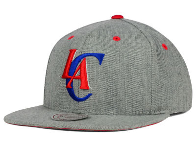 Los Angeles Clippers Mitchell and Ness NBA The Heather Snapback Cap