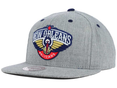 New Orleans Pelicans Mitchell and Ness NBA The Heather Snapback Cap