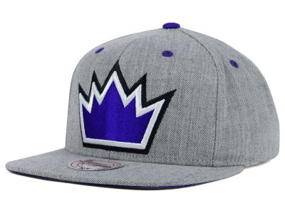 Sacramento Kings Mitchell and Ness NBA The Heather Snapback Cap