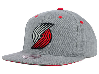 Portland Trail Blazers Mitchell and Ness NBA The Heather Snapback Cap