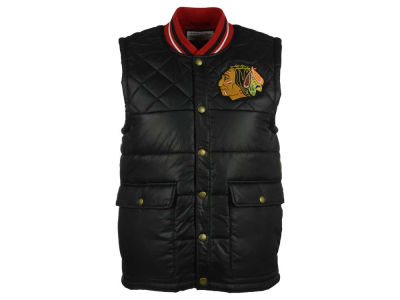 Chicago Blackhawks Mitchell and Ness NHL Men's Snap Front Vest