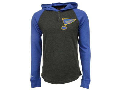 St. Louis Blues Mitchell and Ness NHL Men's Home Stretch Hooded Longsleeve Shirt