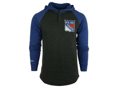 New York Rangers Mitchell and Ness NHL Men's Home Stretch Hooded Longsleeve Shirt