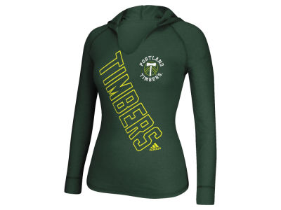 Portland Timbers adidas MLS Women's Vertical Slant Hooded Long Sleeve T-Shirt