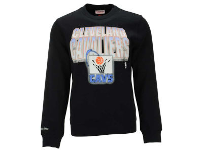 Cleveland Cavaliers Mitchell and Ness NBA Men's Block and Blur Crew Neck Sweatshirt