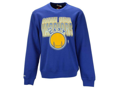 Golden State Warriors Mitchell and Ness NBA Men's Block and Blur Crew Neck Sweatshirt