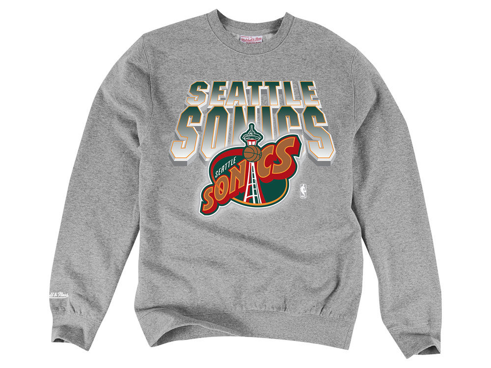 Seattle supersonics mitchell ness nba mens block and blur crew seattle supersonics mitchell ness nba mens block and blur crew neck sweatshirt gumiabroncs Images
