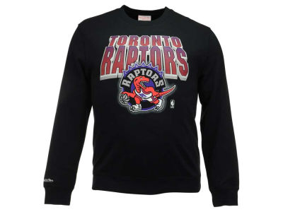 Toronto Raptors Mitchell and Ness NBA Men's Block and Blur Crew Neck Sweatshirt