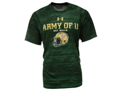 South Florida Bulls Under Armour NCAA Men's Army of 11 Helmet T-Shirt