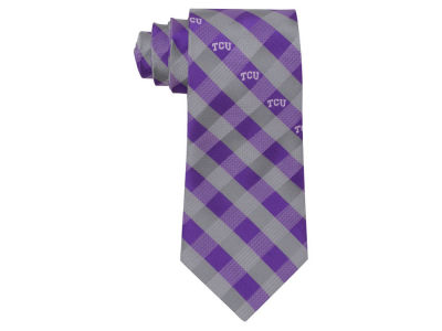 Texas Christian Horned Frogs Polyester Checked Tie