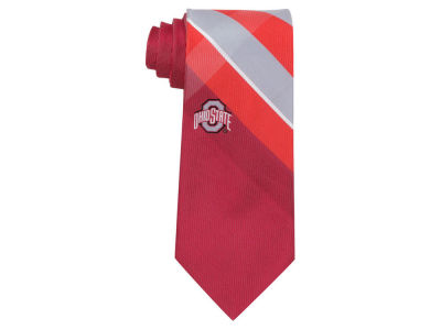 Ohio State Buckeyes Woven Poly Grid Tie