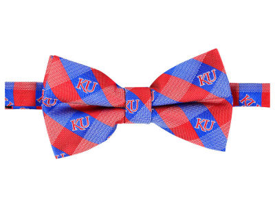 Kansas Jayhawks Bow Tie Checkered Repeat