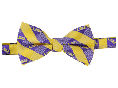 LSU Tigers Bow Tie Checkered Repeat